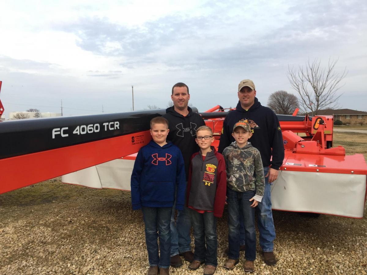 Demmer Family Farm, LLC with their KUHN FC 4060 TCR Mower Conditioner
