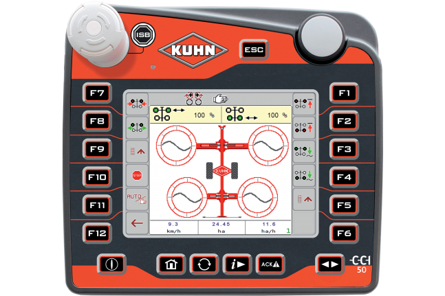 New ISOBUS terminal CCI 50: Compact and comprehensive | Kuhn