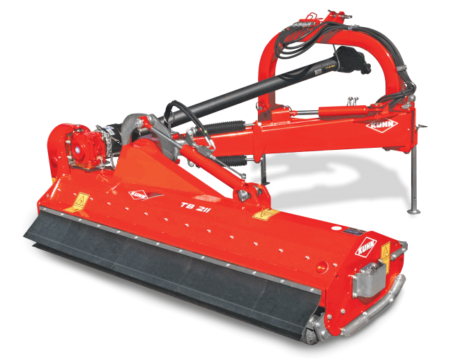 KUHN TB 211 Series Offset Landscape Mowers – Versatile by